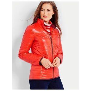 Talbots Quilted Cire Primaloft Jacket Puffer Sz P